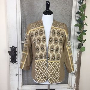Chico's Embroidered Jacket Blazer Tribal  (G10)